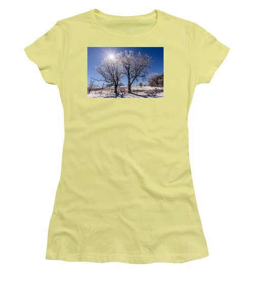 Ice Coated Trees Women's T-Shirt (Athletic Fit)