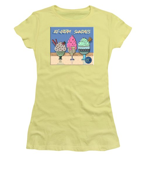 Ice-cream Sundaes Women's T-Shirt (Athletic Fit)