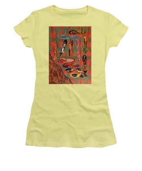 Ice Cream Wooden Sticks Women's T-Shirt (Junior Cut) by Viktor Savchenko