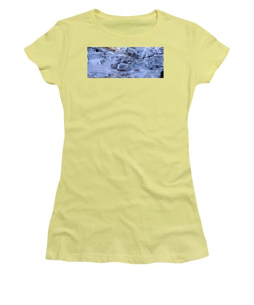 Women's T-Shirt (Junior Cut) featuring the photograph Ice Crystal Art by Michele Penner