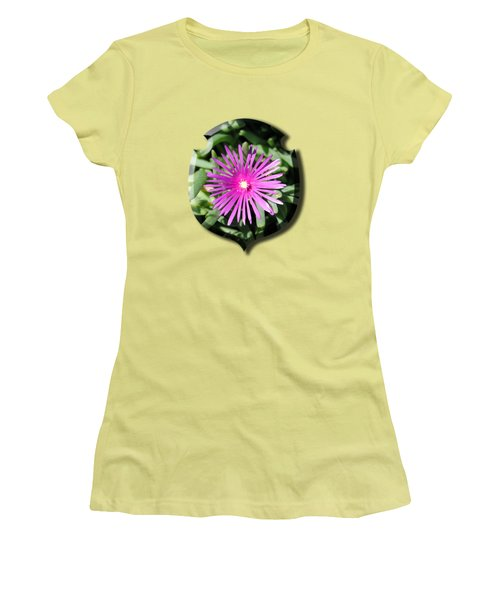 Ice Plant T-shirt Women's T-Shirt (Junior Cut) by Isam Awad