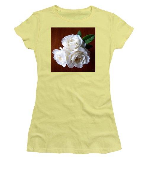 Iceberg Rose Trio Women's T-Shirt (Junior Cut) by Will Borden