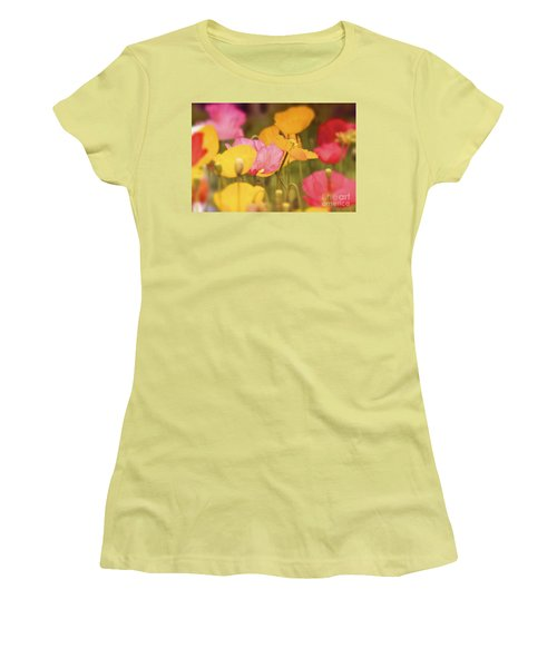 Iceland Poppies Warmly Women's T-Shirt (Athletic Fit)