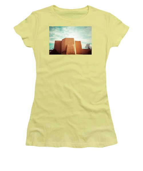 Women's T-Shirt (Junior Cut) featuring the photograph Iconic Church In Taos by Marilyn Hunt