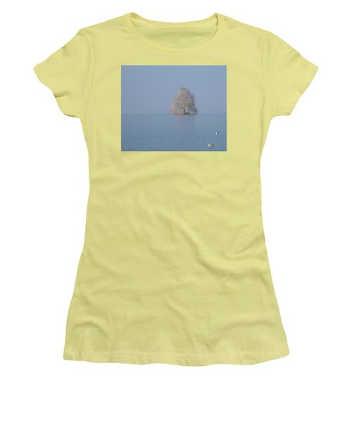 Women's T-Shirt (Junior Cut) featuring the photograph Icy Isolation by Christin Brodie