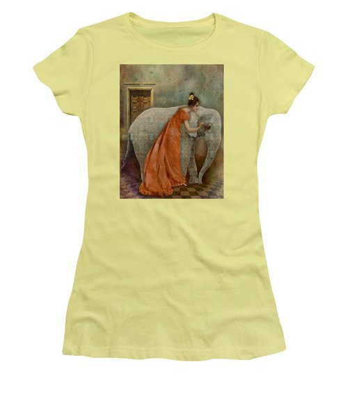 If Elephants Were Painted Women's T-Shirt (Athletic Fit)