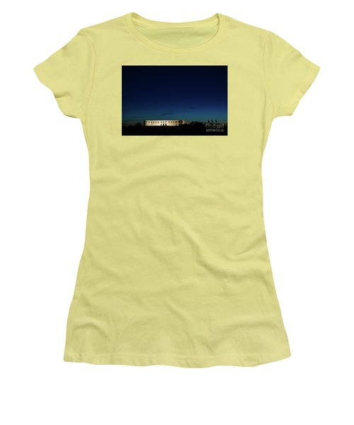 Women's T-Shirt (Athletic Fit) featuring the photograph Illuminated Castle Ruin by Kennerth and Birgitta Kullman