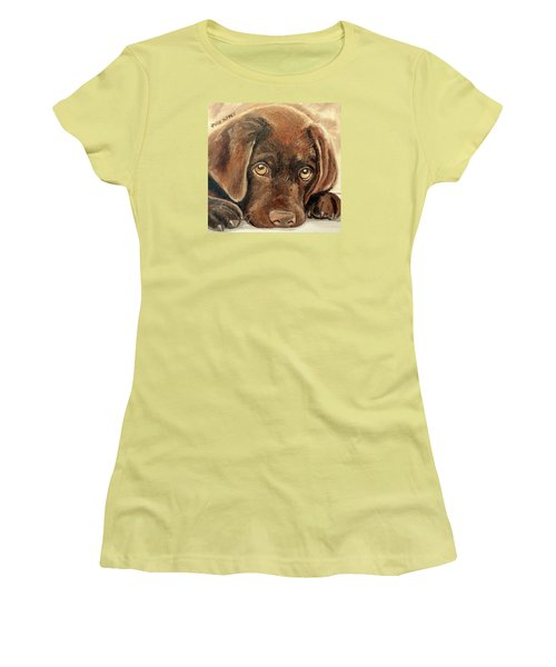 I'm Sorry - Chocolate Lab Puppy Women's T-Shirt (Athletic Fit)