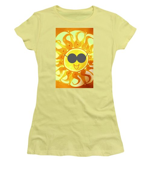 Women's T-Shirt (Athletic Fit) featuring the painting I'm Too Hot For My Shades by Denise Fulmer