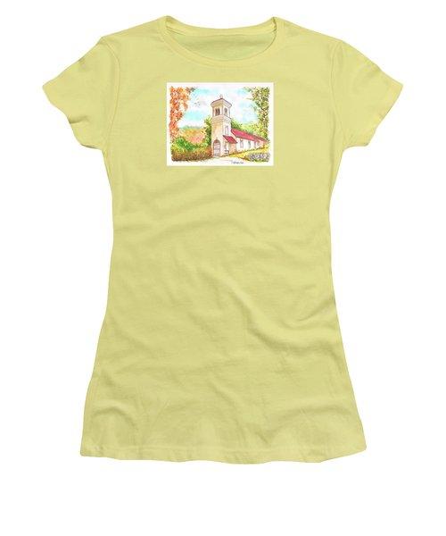 Immaculate Concepcion Catholic Church, Sierra Nevada, California Women's T-Shirt (Junior Cut) by Carlos G Groppa