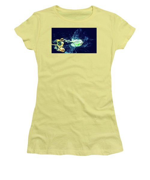 Impact - Pouring Photography Abstract Women's T-Shirt (Athletic Fit)