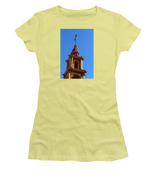 In Mexico Bell Tower Women's T-Shirt (Junior Cut) by Cathy Anderson