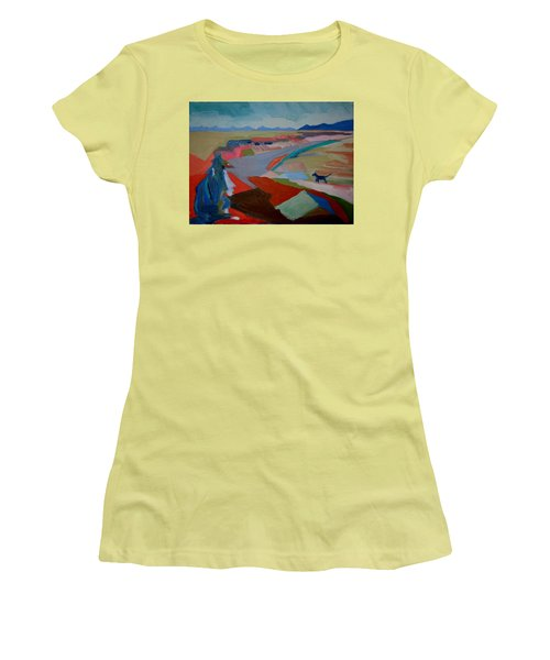 Women's T-Shirt (Junior Cut) featuring the painting In My Land by Francine Frank