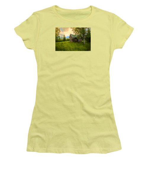 Women's T-Shirt (Junior Cut) featuring the photograph In Peace In Your Grace by Rose-Maries Pictures