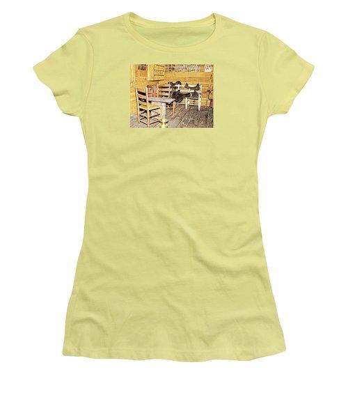 In The Barn Women's T-Shirt (Junior Cut) by Susan Leggett