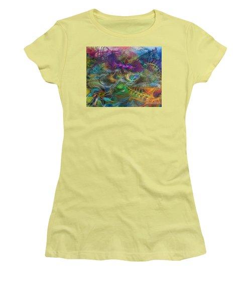 In The Beginning Women's T-Shirt (Junior Cut) by John Robert Beck
