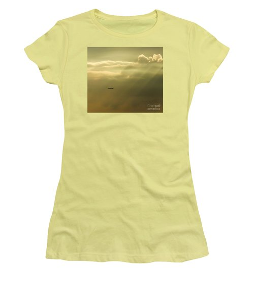 In The Clouds  Women's T-Shirt (Junior Cut) by Christy Ricafrente