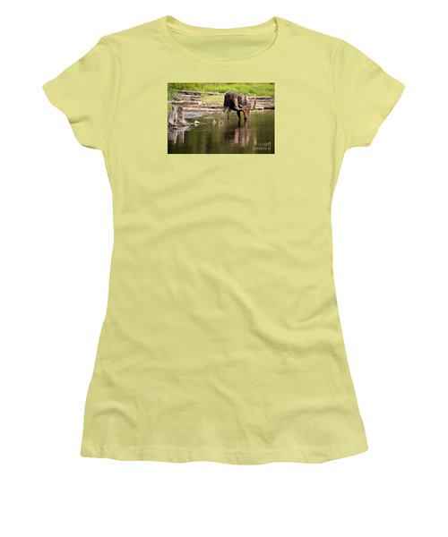 Women's T-Shirt (Junior Cut) featuring the photograph In The Drink by Aaron Whittemore