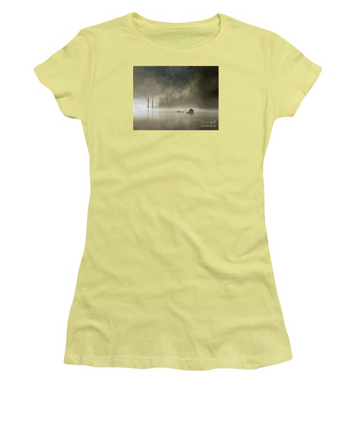 Women's T-Shirt (Junior Cut) featuring the photograph In The Fog by Inge Riis McDonald