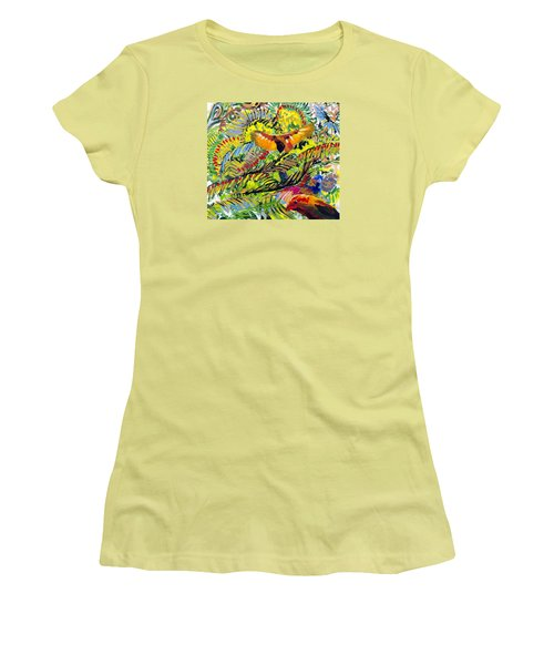 Birds In The Forest Women's T-Shirt (Athletic Fit)