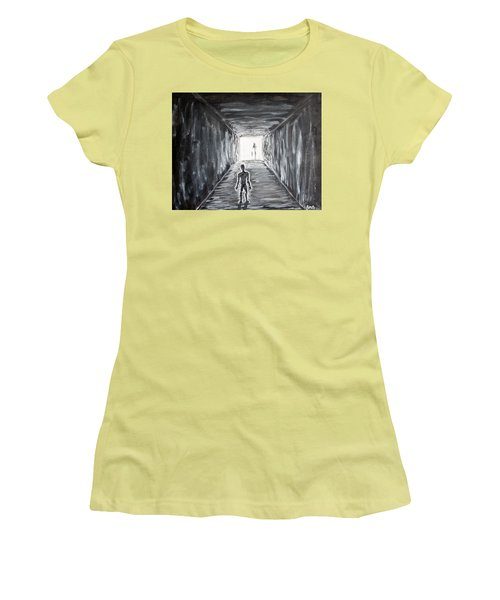 Women's T-Shirt (Junior Cut) featuring the painting In The Light Of The Living by Antonio Romero