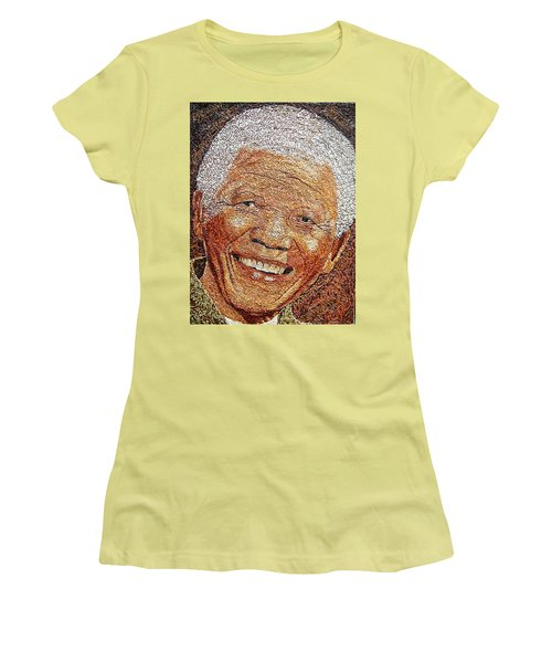 Nelson Mandela - In The Pyramid Of Our Minds Women's T-Shirt (Junior Cut) by Bankole Abe