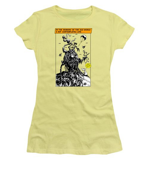In The Remains Of The Old World Women's T-Shirt (Junior Cut) by Kim Gauge