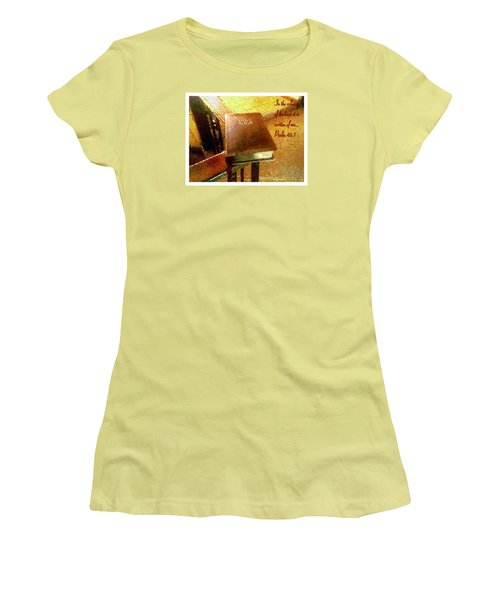 Women's T-Shirt (Junior Cut) featuring the photograph In The Volume Of The Book by Glenn McCarthy Art and Photography
