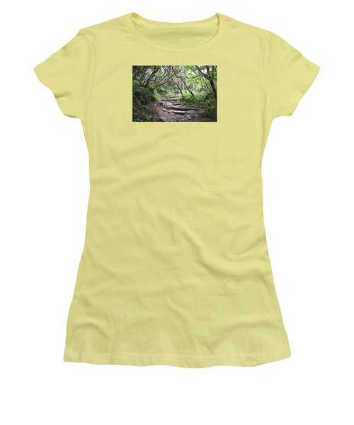 Women's T-Shirt (Junior Cut) featuring the photograph The Enchanted Forest Path by Gary Smith