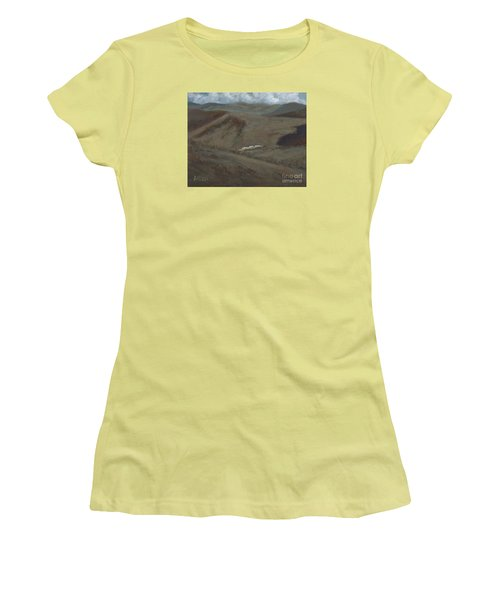 Indian Lodge - A View From The Top Ft. Davis, Tx Women's T-Shirt (Athletic Fit)