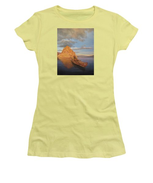 Indian On Lake Pyramid Women's T-Shirt (Athletic Fit)