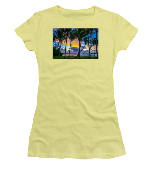 Indian River Sunrise Women's T-Shirt (Junior Cut) by Tom Claud