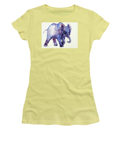 Inky Blue Elephant Women's T-Shirt (Athletic Fit)
