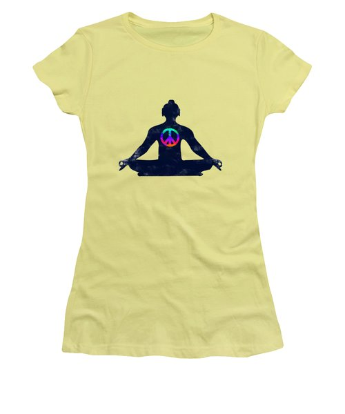 Inner Peace Women's T-Shirt (Junior Cut) by Keshava Shukla