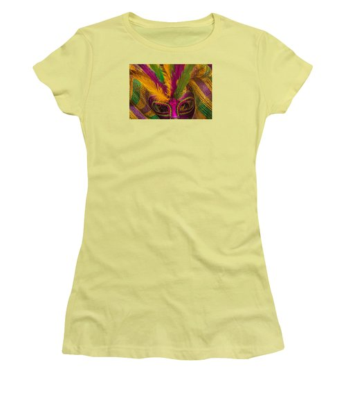 Women's T-Shirt (Athletic Fit) featuring the photograph Inside The Masquerade by Julie Andel