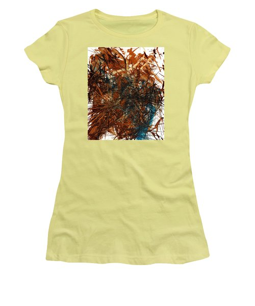 Intensive Abstract Expressionism Series 46.0710 Women's T-Shirt (Junior Cut) by Kris Haas