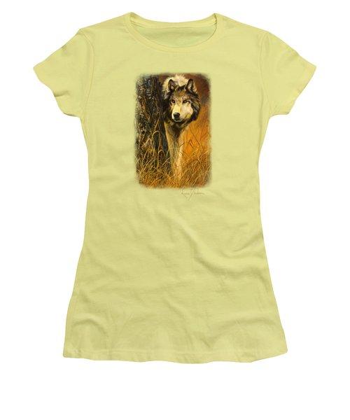 Interested Women's T-Shirt (Junior Cut) by Lucie Bilodeau