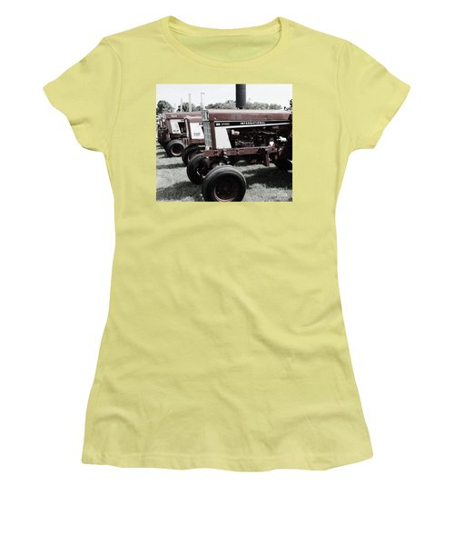 Women's T-Shirt (Junior Cut) featuring the photograph International Line Up by Meagan  Visser