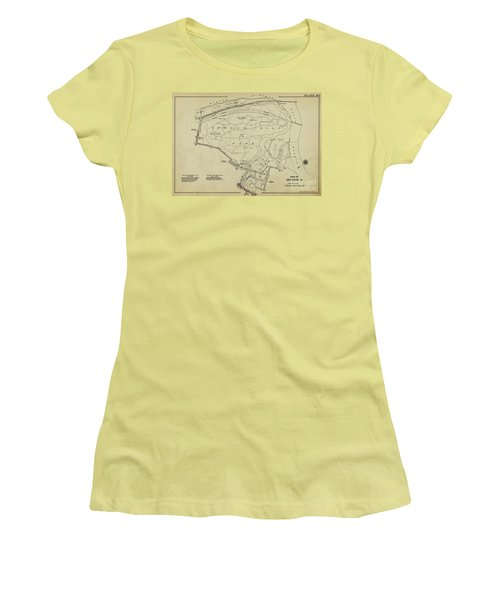 Women's T-Shirt (Athletic Fit) featuring the photograph Inwood Hill Park 1950's Map by Cole Thompson