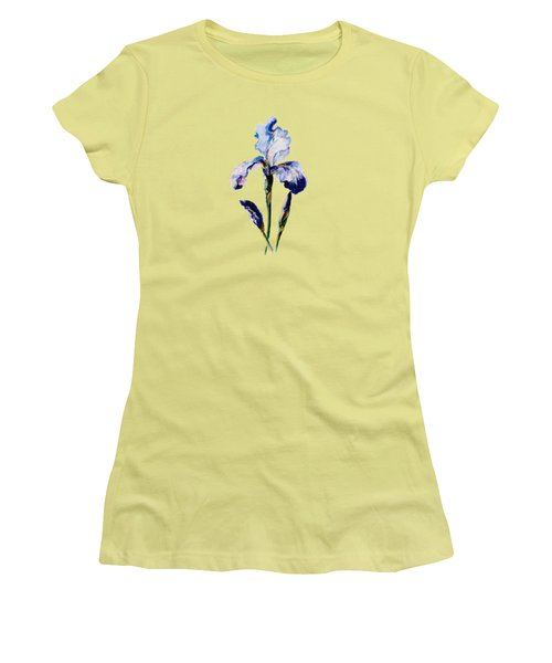 Women's T-Shirt (Junior Cut) featuring the painting Iris A by Mary Armstrong