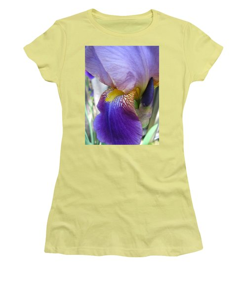 Iris Blossom And Bud Women's T-Shirt (Junior Cut) by Brooks Garten Hauschild