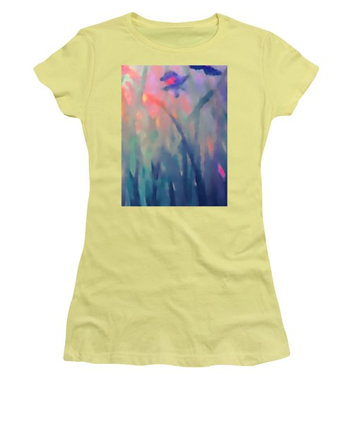Women's T-Shirt (Junior Cut) featuring the painting Iris by Holly Martinson