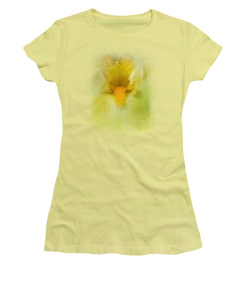Iris In Lime Women's T-Shirt (Junior Cut) by Jai Johnson