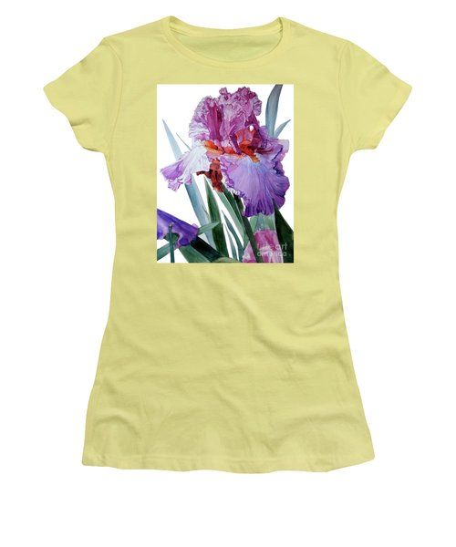 Iris Luciano Pavarotti Women's T-Shirt (Junior Cut) by Greta Corens