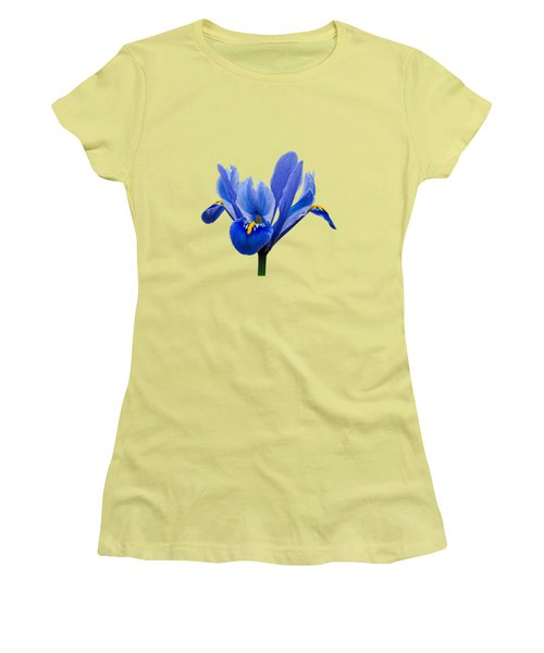 Iris Recticulata Transparent Background Women's T-Shirt (Athletic Fit)