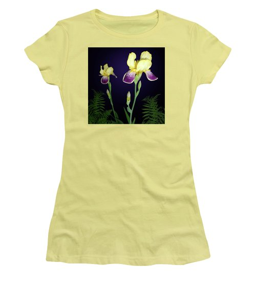 Irises In The Night Garden Women's T-Shirt (Athletic Fit)
