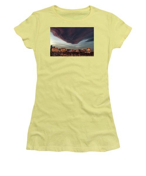 Iron Maiden Las Vegas Women's T-Shirt (Junior Cut) by Michael Rogers