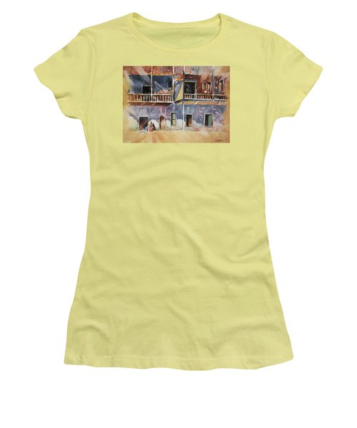 Island Community Women's T-Shirt (Junior Cut) by Al Brown