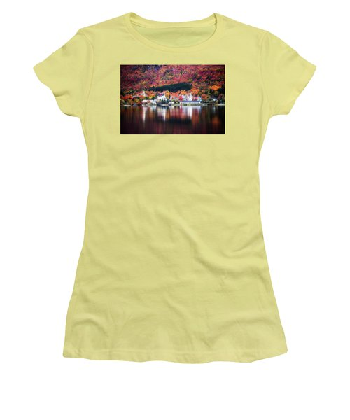 Island Pond Vermont Women's T-Shirt (Junior Cut) by Sherman Perry
