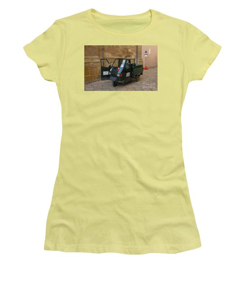 Italian Garbage Truck Women's T-Shirt (Athletic Fit)